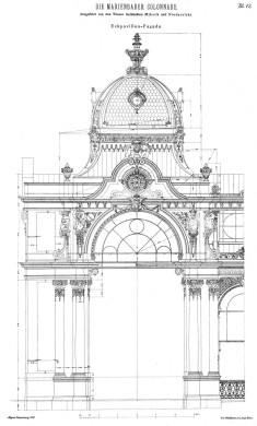 Design for a corner pavilion of the Colonnade