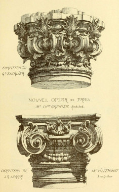 Capital designs for Garnier's Opera House, Paris