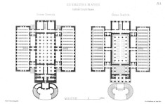 Floorplans of the Library,Athens