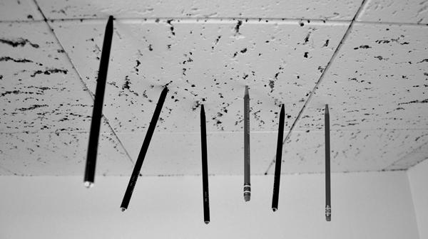 Pourquoi mes stylos sont-ils sur le plafond