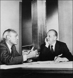 Mies van der Rohe and Philip Johnson